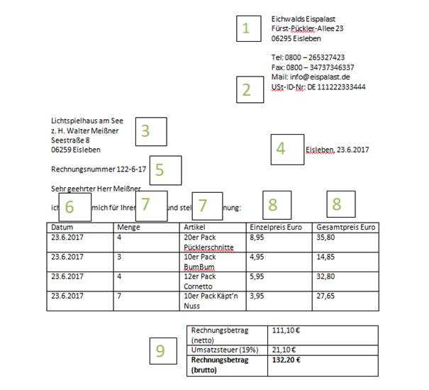 Korrekte Rechnungen Erstellen
